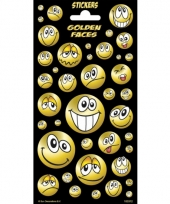Smiley stickervellen met glitters