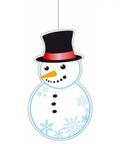 Sneeuwpop hangdecoratie 41 cm
