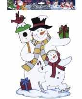 Sneeuwpop raamsticker herbruikbaar
