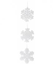 Sneeuwvlok van piepschuim 15 cm 1x