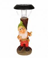 Solarlamp tuinkabouter met trommel
