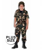 Soldaten outfit in grote maten