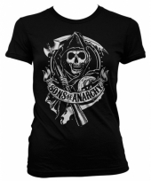 Sons of anarchy kleding dames shirt zwart
