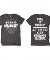 Sons of anarchy kleding heren shirt grijs