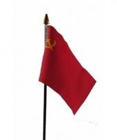 Sovjet unie luxe zwaaivlaggetje polyester