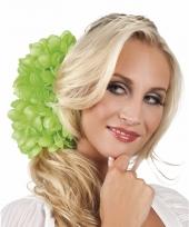 Spaanse bloem haarklem lichtgroen 20 cm