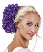 Spaanse bloem haarklem paars 20 cm