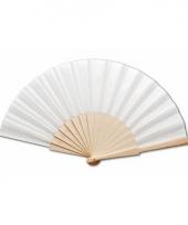Spaanse waaier wit 42 x 23 cm