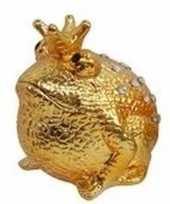 Spaapot kikker prins goud 18 cm