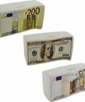 Spaarpot 100 euro karamisch 16 5 cm