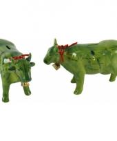 Spaarpot alpen koe met bel