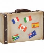Spaarpot in vorm van koffer