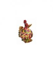 Spaarpot kippetje met bloemenprint