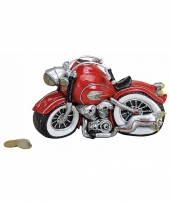 Spaarpot motor rood 21 cm