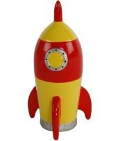 Spaarpot ruimteraket geel
