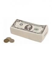 Spaarpot van dollar briefjes 16 cm
