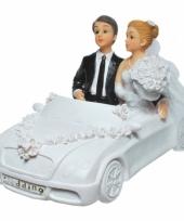 Spaarpotten trouwauto met bruidspaar