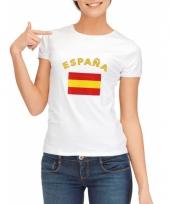 Spanje vlaggen t-shirt voor dames