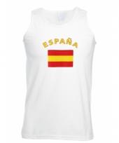 Spanje vlaggen tanktop t-shirt