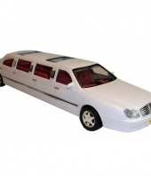 Speel auto limousine wit