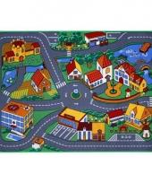 Speeldeken dorp met wegen 95 x 133 cm