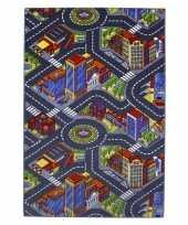Speeldeken stad met wegen 100 x 165 cm