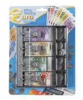 Speelgeld kassa set voor kinderen om te leren 87 delig 10119657