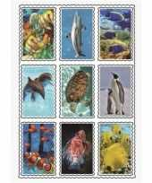 Speelgoed 3d stickers van zeedieren