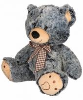 Speelgoed beren knuffel grijs zwart 32 cm
