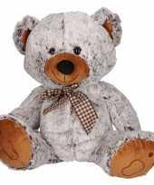 Speelgoed beren knuffel wit bruin 32 cm