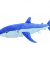 Speelgoed blauwe haai knuffel 40 cm