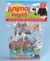 Speelgoed boederij dieren 6 stuks