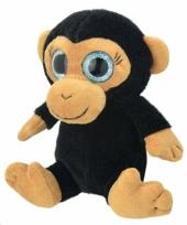 Speelgoed chimpansee aap knuffel 18 cm