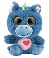 Speelgoed draken knuffel blauw 18 cm
