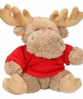 Speelgoed elandje kerst knuffel 15 cm