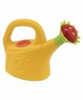 Speelgoed gieter geel met zonnebloem