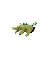 Speelgoed handpop krokodilletje 22 cm