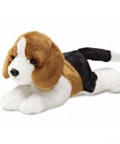 Speelgoed honden knuffel beagle 20 cm