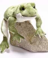 Speelgoed knuffel groen kikkertje 30 cm