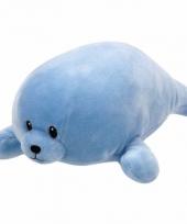 Speelgoed knuffeldier blauw zeehondje ty baby doodles 24 cm