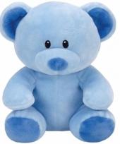 Speelgoed knuffeldier blauwe beer ty baby lullaby 24 cm