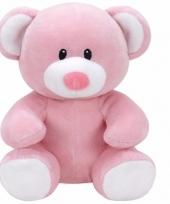 Speelgoed knuffeldier roze beer ty baby princess 24 cm