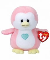 Speelgoed knuffeldier roze pinguin ty baby penny 17 cm