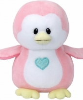 Speelgoed knuffeldier roze pinguin ty baby penny 24 cm
