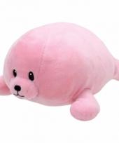 Speelgoed knuffeldier roze zeehondje ty baby doodles 24 cm