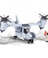 Speelgoed leger vliegtuig bouwstenen set