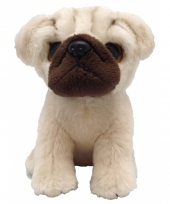 Speelgoed mopshond knuffel 13 cm