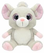 Speelgoed muis knuffel 19 cm