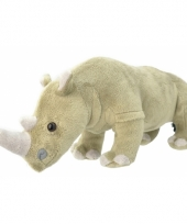 Speelgoed neushoorn knuffel 30 cm