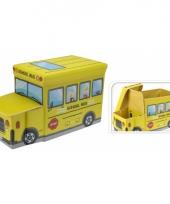 Speelgoed opbergdoos in schoolbus uitvoering